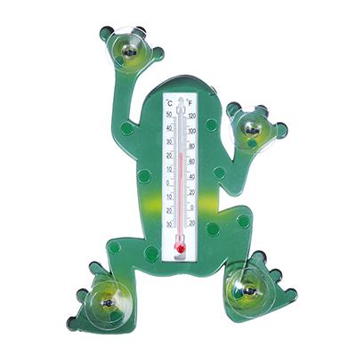 """473-009 INBLOOM Термометр оконный """"Лягушка"""" 17,5х23,5см для крепления на стекло, пакет"""