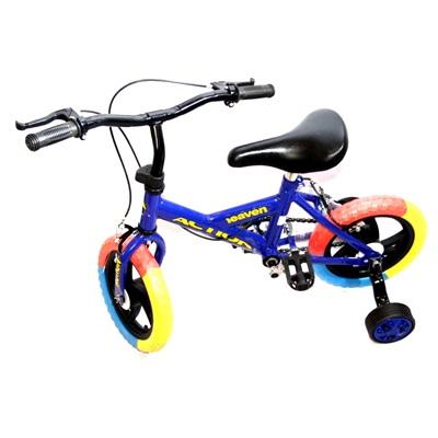 """331-001 Велосипед двухколесный 12"""" (со съемными боковыми) цвет микс. арт.1-1-12"""
