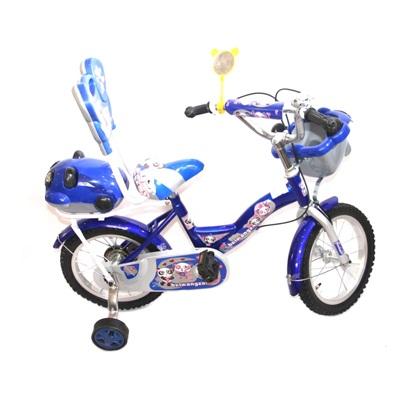 """195-244 Велосипед двухколесный 14"""" (со съемными боковыми) цвет микс. арт.12-5-14"""