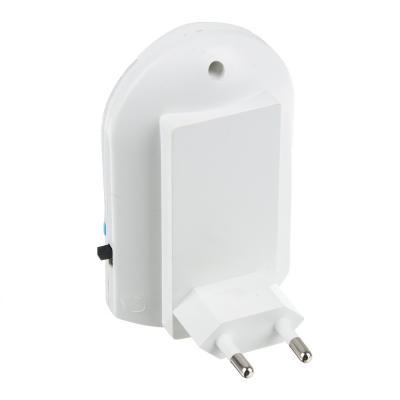 920-012 Ночник светодиодный 4LED с выключателем, 8,5х5х7,5 см, 220 В, 0,5 Вт, пластик, 3 цвета