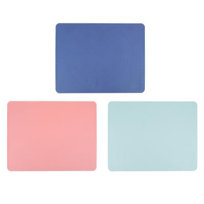 891-101 Коврик силиконовый для раскатки теста VETTA, 50х40 см, 3 цвета