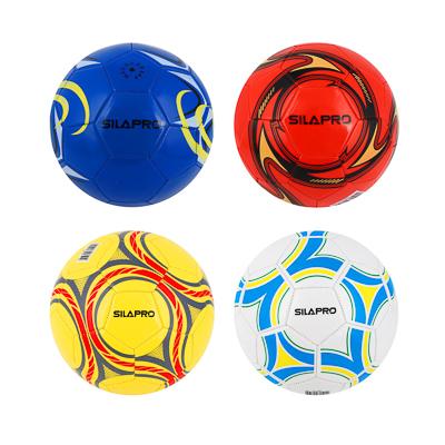 133-003 Мяч футбольный, 2 сл, размер 5, 22 см, ПВХ, 4 цвета арт. 001