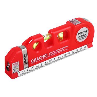 659-101 FALCO Уровень лазерный (лазер - питание 3хAG13, рулетка 250см, линейка 15см, пузырьковый уровень 3шт
