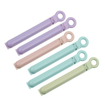 438-014 Набор зажимов для пакетов 6шт,пластик, 10см