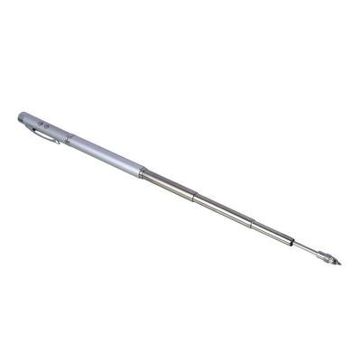 328-037 ЧИНГИСХАН Ручка - выдвижная указка, 1 LED + лазер, 3xAG3, пластик, металлический пенал, 18х3,5 см