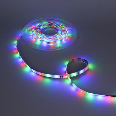 932-001 Лента светодиодная разноцветная (3 цвета) в комплектес наб. для монтажа 5м, 2,88 Вт, 220В, 3528 RGB