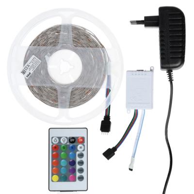 932-001 Лента светодиодная разноцветная (3 цвета) в комплекте с наб. для монтажа 5м, 3,5 Вт, 220В, 2835 RGB