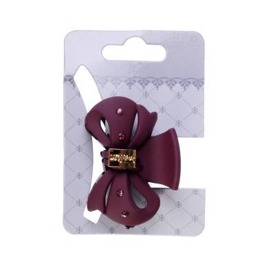 356-848 Заколка-краб для волос со стразами, пластик, 4,5 см, 6 цветов