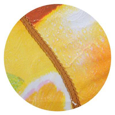 479-033 Скатерть на стол виниловая, на фланелевой основе с каймой, круглая, d137см, VETTA