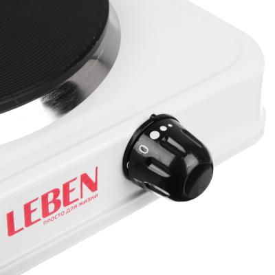 475-038 Плитка электрическая одноконфорочная LEBEN 1000Вт диск d15,5см