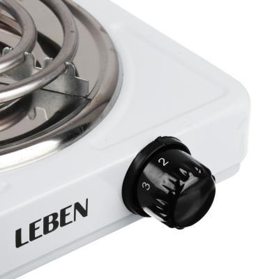 475-039 Плитка одноконфорочная LEBEN 1000 Вт, спираль d.14 см
