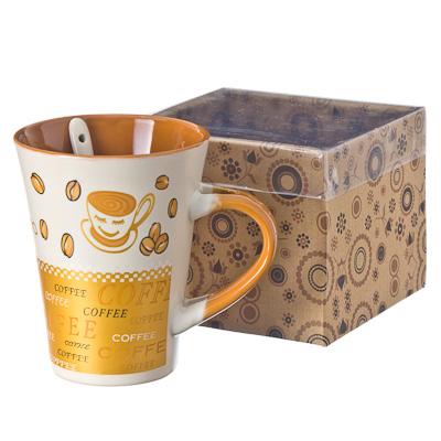 """806-455 Кружка с ложкой, """"Кофе"""", в подар. уп."""