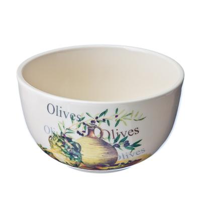 816-054 Olive Салатник, керамика, d12xh7см