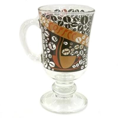 818-244 Кружка стеклянная, 200мл, Кофейные зерна, 08с1405 ОСЗ
