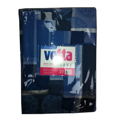 439-247 VETTA Набор матов на стол Azzurro 4шт 33х48см + салфетки 4шт 40х40см 100% хлопок