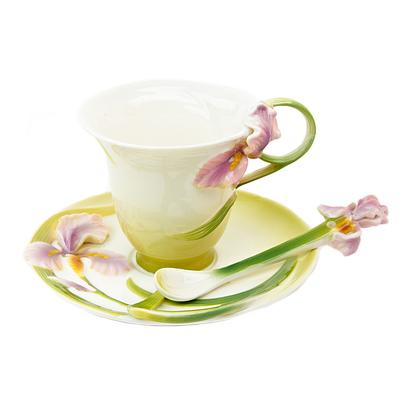 802-088 Набор чайный 3 пр. (чайная пара 150мл + ложечка) Нежный ирис, 1160037