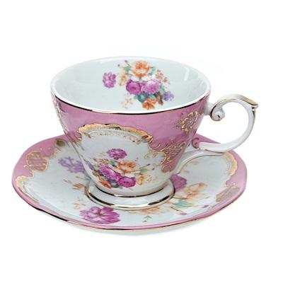 802-091 Набор чайный 2 пр. 220мл розовый, подар упак, 1220006