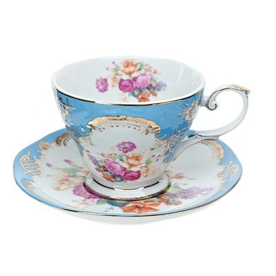 802-092 Набор чайный 2 пр. 220мл голубой, подар упак, 1220009