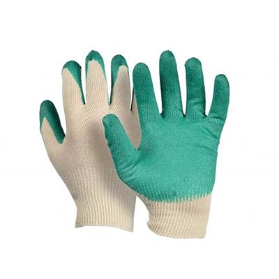 446-012 Перчатки вязаные х/б обливные с 1-слойным латексным покрытием