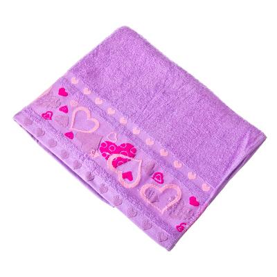 484-339 VETTA Полотенце банное, 100% хлопок, 50x90см, Liguria фиолетовое