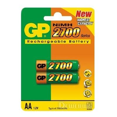 917-015 Аккумулятор GP 2шт Ni-MH 270AAHC/R6 2700mAh, тип АА, BL