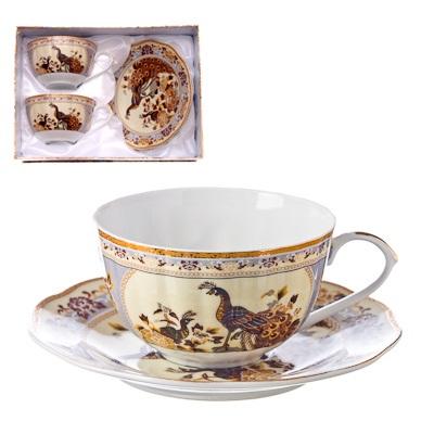 802-108 Павлины Набор чайный 4 пр. 270мл, тнк.фрф, подар.уп. AY-11.1