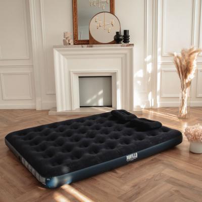 332-001 BESTWAY Кровать надувная Queen, 203x152x22см, с ручным насосом и 2 подушками, 67374N