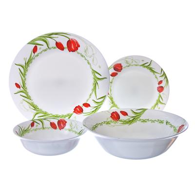818-457 VETTA Аттис Набор столовой посуды 19 пр. опаловое стекло тонкое LFW-19