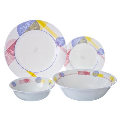 818-458 VETTA Вирбий Набор столовой посуды 19 пр. опаловое стекло тонкое LFW-19