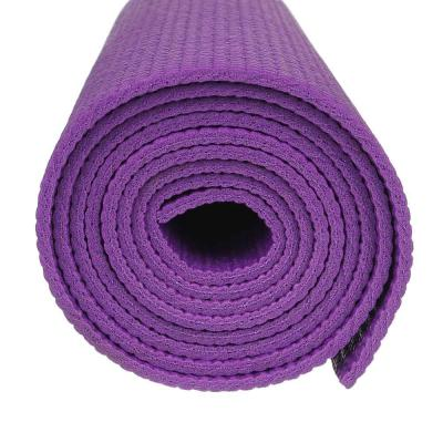 342-051 Коврик для йоги, ПВХ, 61х173 см, толщина 4мм, с принтом, 4 цвета, SILAPRO
