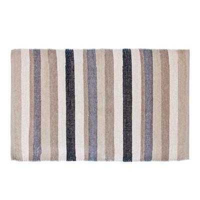 462-319 VETTA Коврик интерьерный, хлопок 100%, 60x90см, полосатый, серый