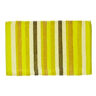 462-320 VETTA Коврик интерьерный, хлопок 100%, 60x90см, полосатый, зелёный