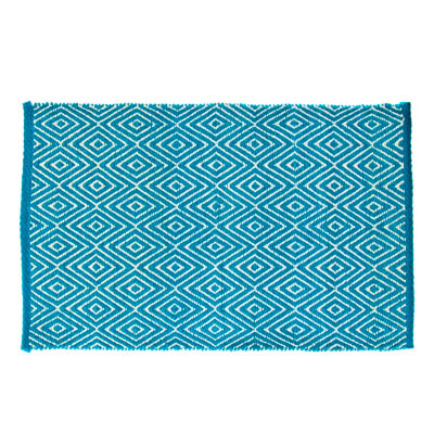 "462-321 VETTA Коврик интерьерный, хлопок 100%, 60x90см, ""Греция"" голубой"