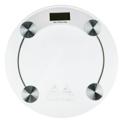 487-020 Весы напольные электрон., ЖК-дисплей, макс. нагр.до 180кг, стекло, d33х0,8см