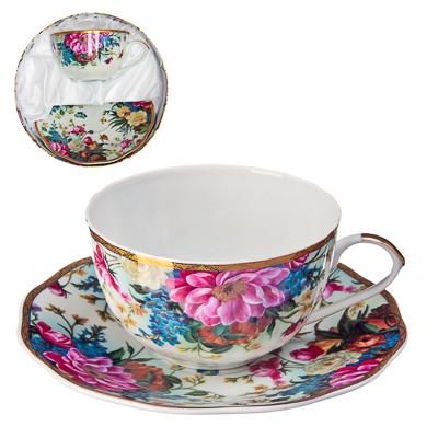 """802-133 Набор чайный 2 пр., 270мл, тнк. фрф, подар.уп, """"Французский сад"""""""