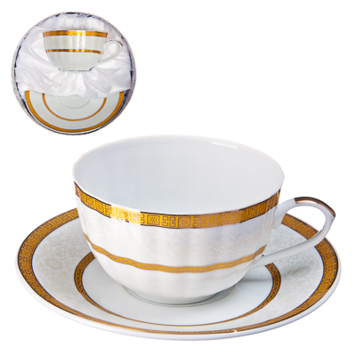 "802-142 Набор чайный 2 пр., 270мл, тнк. фрф, подар.уп, ""Gold rings"""