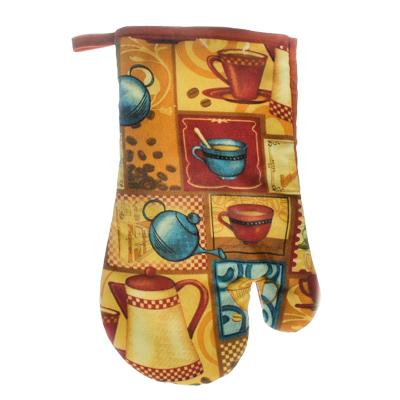"""439-304 VETTA Kitchen Прихватка-варежка, полиэстер, 27см, """"Coffee time"""", GC"""