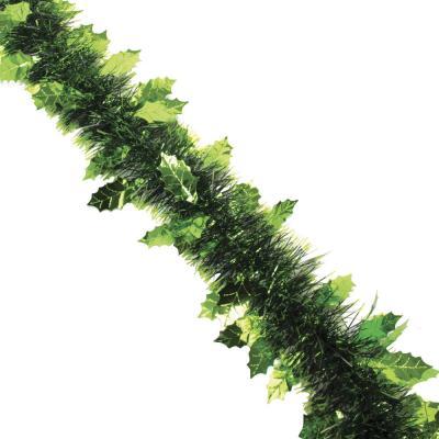 377-194 СНОУ БУМ Мишура 8х200см, ПВХ, в форме елочек, 2 цвета (зеленый, малиновый)