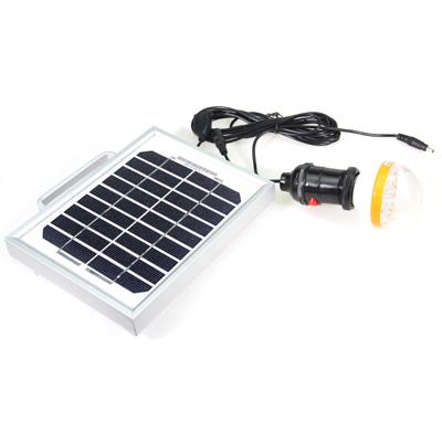 917-017 Аккумулятор на солнечной батарее с LED лампой и USB входом, портативный 6V