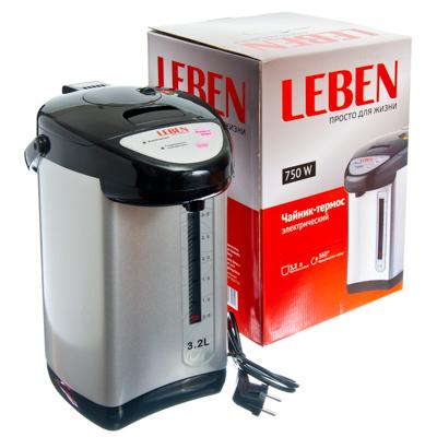 Чайник-термос эл., 3,2л, 750Вт, ф-ция.пов.кипяч., колба из нерж.стал; вращ. корп. на 360 гр.