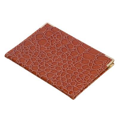 """303-187 PAVO Обложка для паспорта, ПВХ, 13,8x9,5см, """"Аллигатор"""", 6 цветов"""