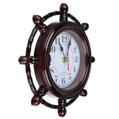 "581-111 Часы настенные, 25x25см, ""Штурвал"""
