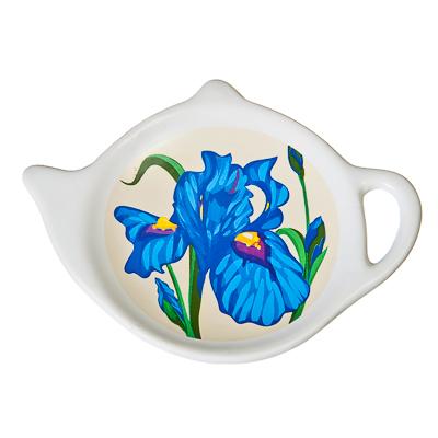 """802-191 Подставка для чайных пакетиков керамика, 12,5x8x0,96см, """"Ирис"""""""