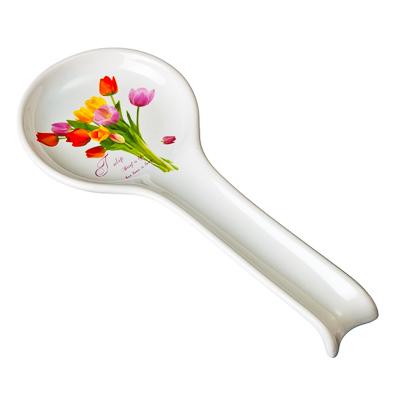 824-107 Тюльпаны Ложка подстановочная, 27см, керамика