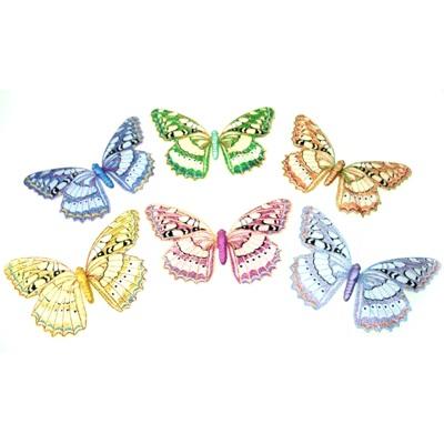 491-082 Зажим для штор бабочка большая 14 см, металл+пластик