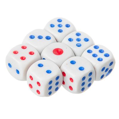341-049 Кубики игральные 8 шт, 11x11мм, пластик