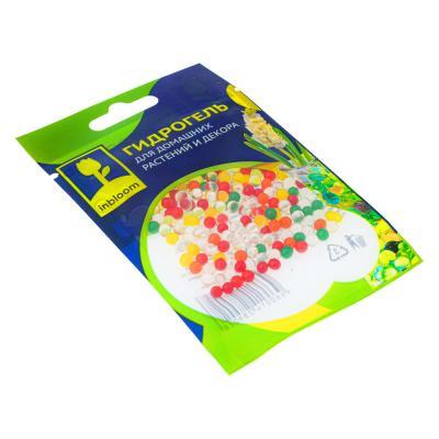 """173-215 Гидрогель для домашних растений и декора, полимерный материал, 13х9х3, """"Шарики Разноцветные"""""""