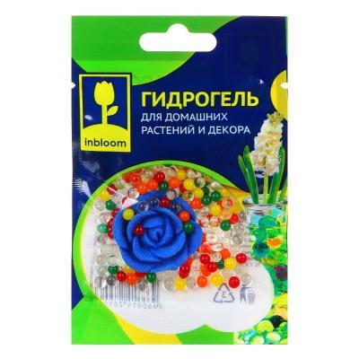 """173-218 Гидрогель для домашних растений и декора с декоративным цветком, полимерный материал, 13х9х3, """"Шарик"""
