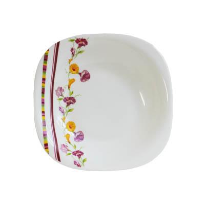 818-515 VETTA Климена Тарелка суповая опаловое стекло 230мм квадратная FFSP90/6