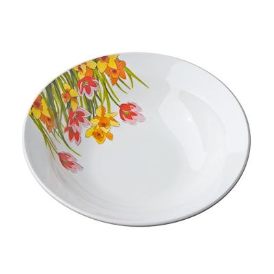 816-204 Цветы Миска малая 17,5см, 250мл, фаянс, 0159